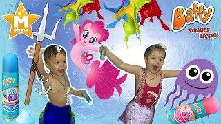 Русалка Пінкі Пай, медуза Море Чудес і набір для ігор у ванні Baffy: Купайся весело ☆ Маша Шоу