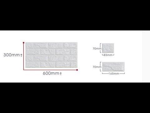 PE Foam 3D DIY Wallpaper Brick  Decorative Sticker