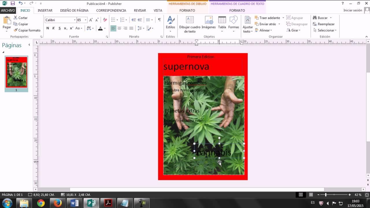 Como Hacer Una portada De Revista En Publisher - YouTube