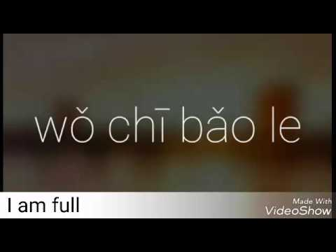 Mandarin Video Journal: I am full