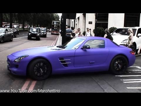 Mercedes Benz Cla >> Matte Purple Mercedes SLS AMG - YouTube