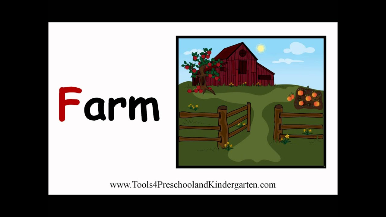 Video ebook with printables for teaching the letter f for Gardening tools 6 letters