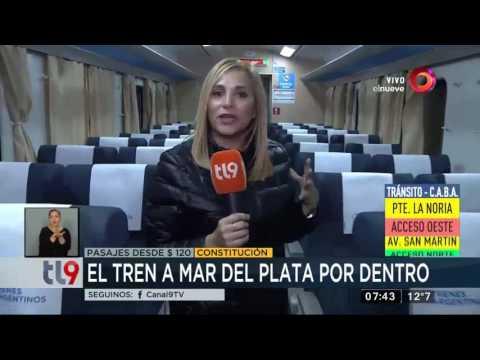 Llegó el primer tren de Mar del Plata