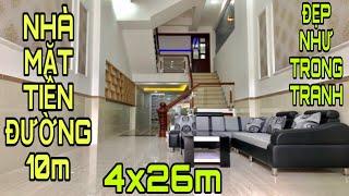 Bán nhà Gò Vấp | Nhà mặt tiền đường số 10m |Diện tích khủng 4x26m |giá rẻ 7.85tỷ