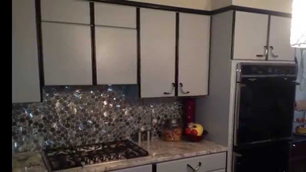 repainting kitchen cabinets red knife block set airless spray paint laminate - youtube
