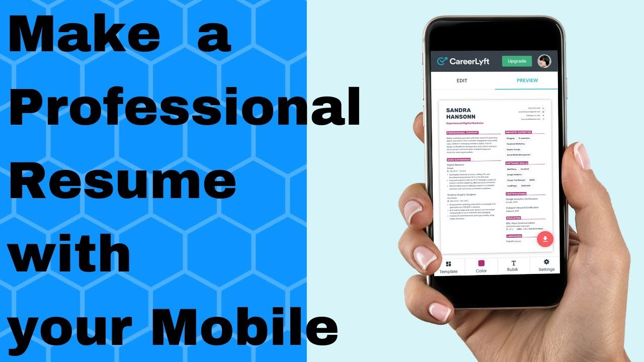 make a  ud83d udd25professional resume with your mobile