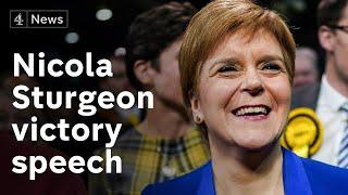 Nicola Sturgeon demands second independence referendum in victory speech