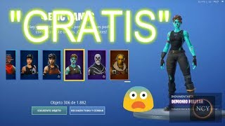 HOW TO HAVE ALL THE SKINS OF FORTNITE MORE MOCHILAS, GESTS, DELTA ETC WINGS.