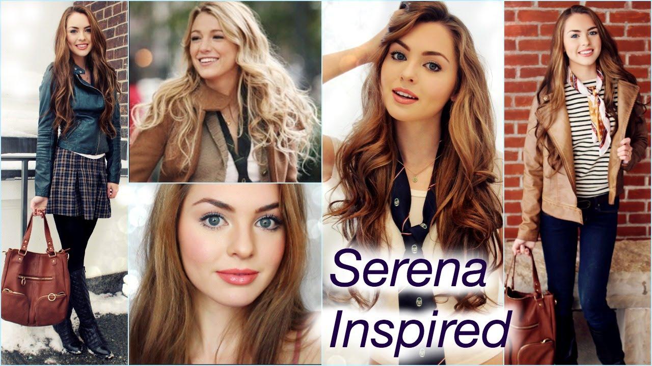 serena van der woodsen hair, makeup & outfits   back to school