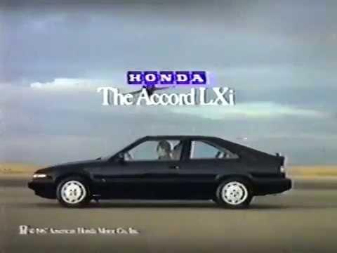 80s Ads Honda Accord Lxi 1987 Youtube