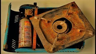 Restoration Old mini gas stove | Restore Rusty kitchen tool | Household appliances restoration
