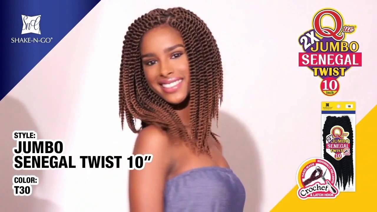 Freetress Synthetic Braid Que Jumbo Senegal Twist 2x 10 Inch