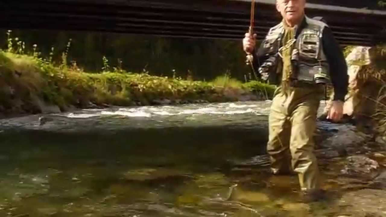 flyfishing with bamboo rod bambou refendu and kiss trout - Fly Bambou