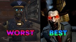 ALL BO2 ZOMBIES MAPS RANKED FROM WORST TO BEST! - Call of Duty Zombies
