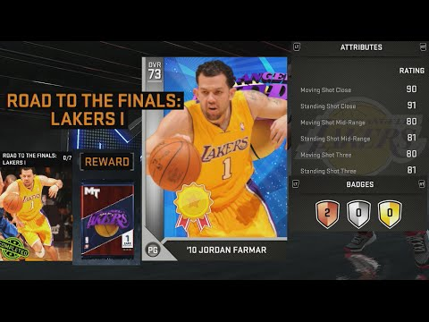 NBA 2K16 Reward Jordan Farmar Attribute Ratings & Badges