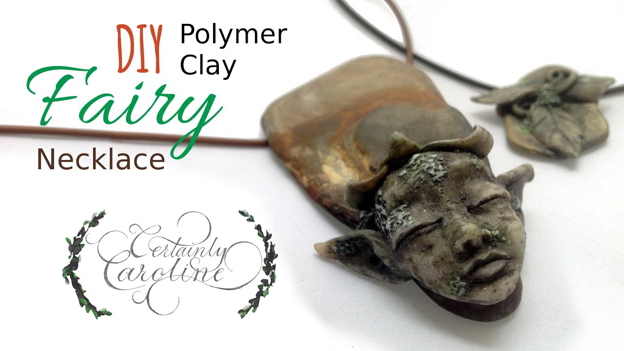 Diy stone fairy necklace polymer clay jewelry tutorial youtube aloadofball Image collections