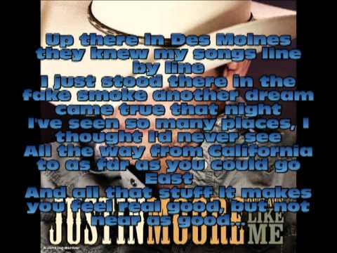 Flyin down a backroad Justin Moore Lyrics