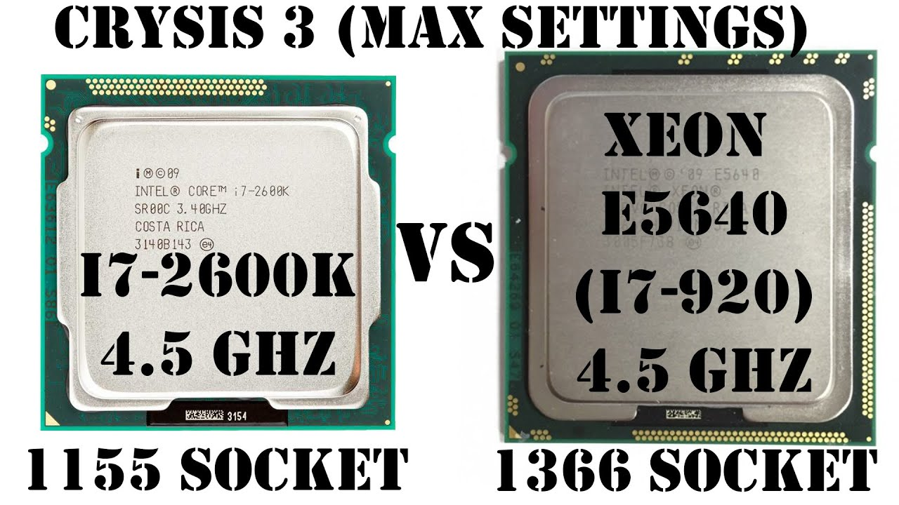 CRYSIS 3, 1155 (i7 2600K) vs 1366 (E5640, i7 920, X5550), Max Settings, + Radeon HD7950