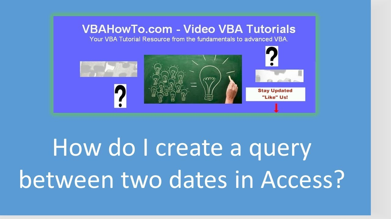 How do I create a query between two dates in Access?