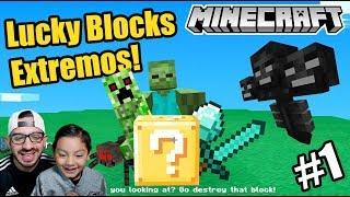 Lucky Blocks en Minecraft | Primera Vez en Lucky Blocks Extremos | Juegos Karim Juega