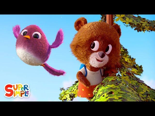 The Bear Went Over The Mountain   Nursery Rhyme   Super Simple Songs