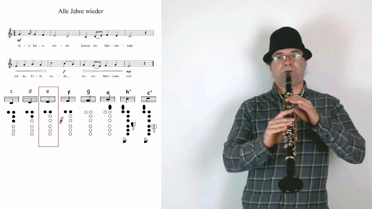 klarinette lernen weihnachtslieder alle jahre wieder. Black Bedroom Furniture Sets. Home Design Ideas