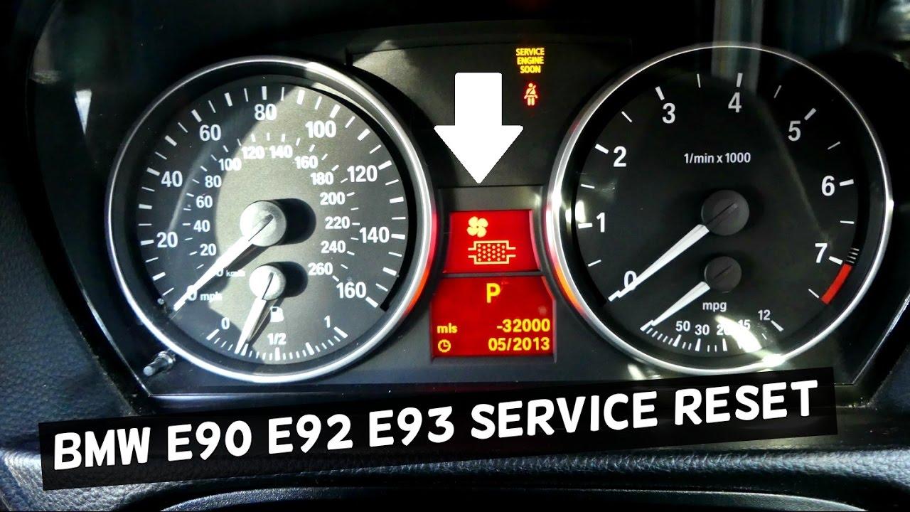 Bmw E90 E92 E93 Service Reset Oil Life Reset Brake Reset