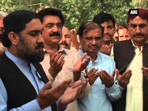 Funeral prayers-in-absentia held for Pakistani minister killed in blast