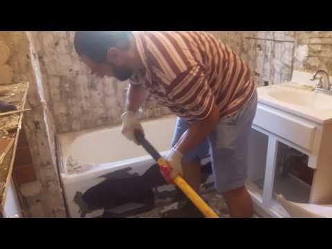 Как разбить чугунную ванну
