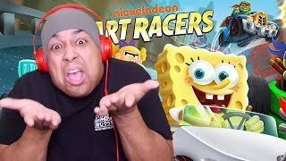 THIS MORE FUN THAN MARIO KART!? [NICKELODEON KART RACERS]