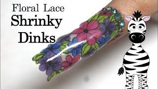 Floral Lace Nail Art Tutorial using SHRINKY DINKS