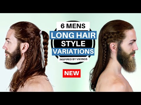 ✅ 6 Long Hairstyle Ideas for Men [Inspired by Vikings] - Mens Long Hair Inspiration thumbnail
