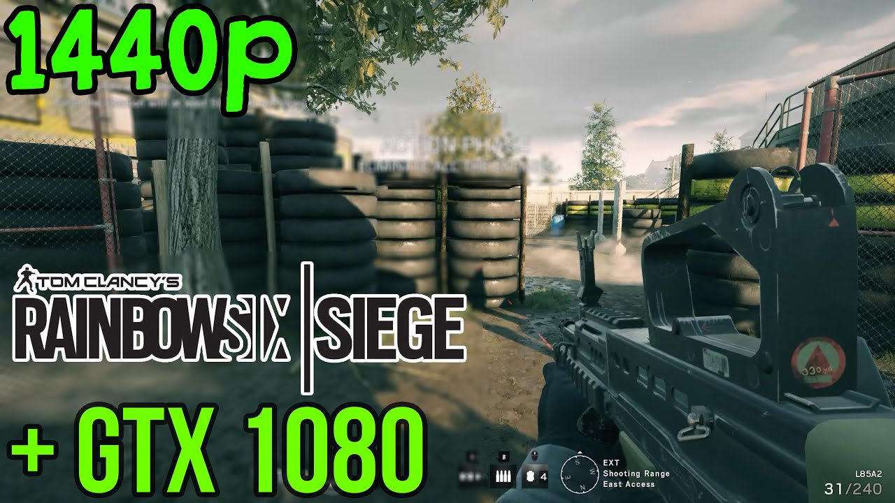 Rainbow Six: Siege | NVIDIA GTX 1080 | FRAME RATE | MAXED OUT (1440p)