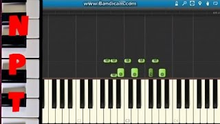 How to play Crooked Smile on piano - J Cole ft. TLC - Synthesia Tutorial