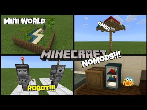 5 Trik Rahasia yg mungkin kalian belum coba di MinecraftPE! NoMods! - 동영상