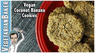 Vegan Coconut Banana Cookies! | Only 5 Ingredients! thumbnail