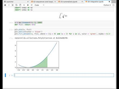 Exact Areas and Definite Integral with Python - YouTube