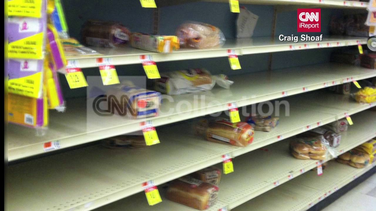 MA:SNOW STORM:EMPTY BREAD SHELF AT GROCERY STORE - YouTube