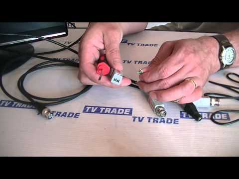 Cat5 to BNC CCTV Video Balun - YouTube Vga Balun Wiring Diagram on
