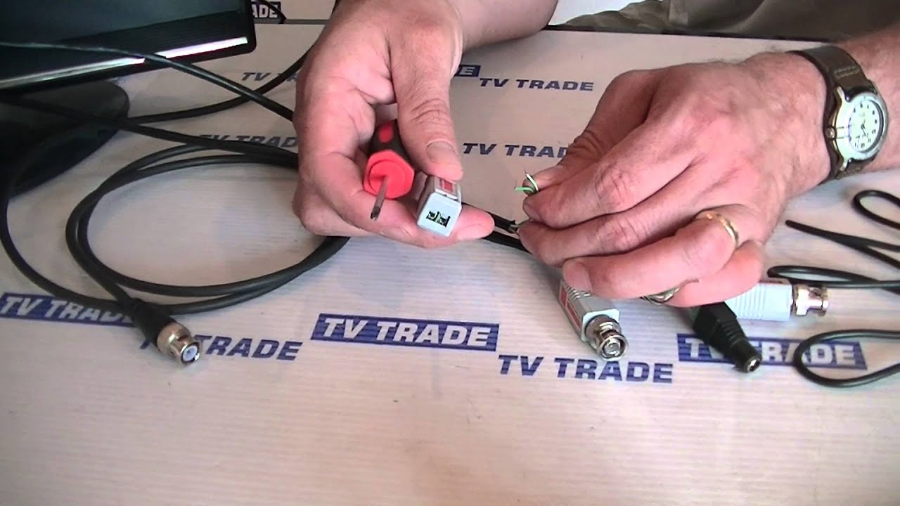 Cat5 To Bnc Cctv Video Balun Youtube Diagram Further Cat 5 Cable Wiring Twisted Pair
