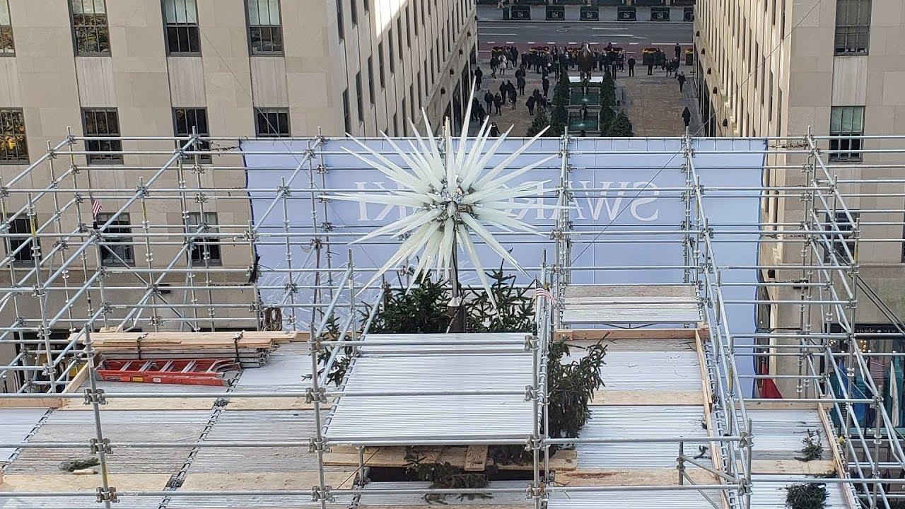 Rockefeller Center Christmas Tree Swarovski Star 2018 Youtube