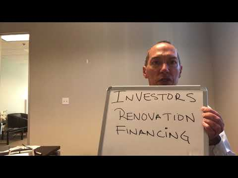 Investors/Contractors Renovation Financing Available