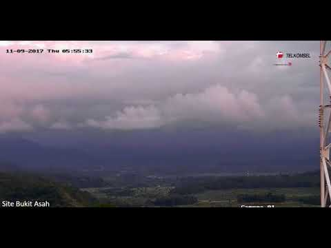 Earthquake below the Agung volcano complex, Bali, Indonesia - November 8, 2017