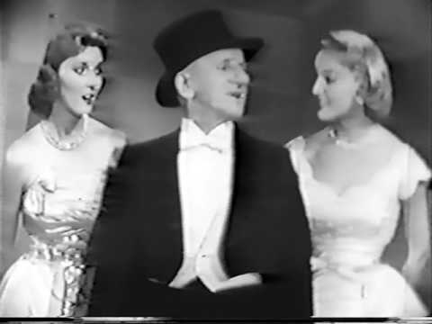 Jimmy Durante--That's My Technique, 1957 Live TV, Tyrone Power