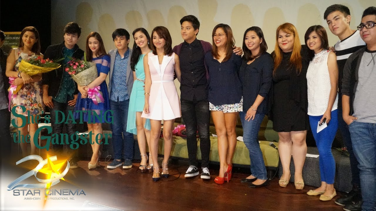 Shes dating the gangster press con