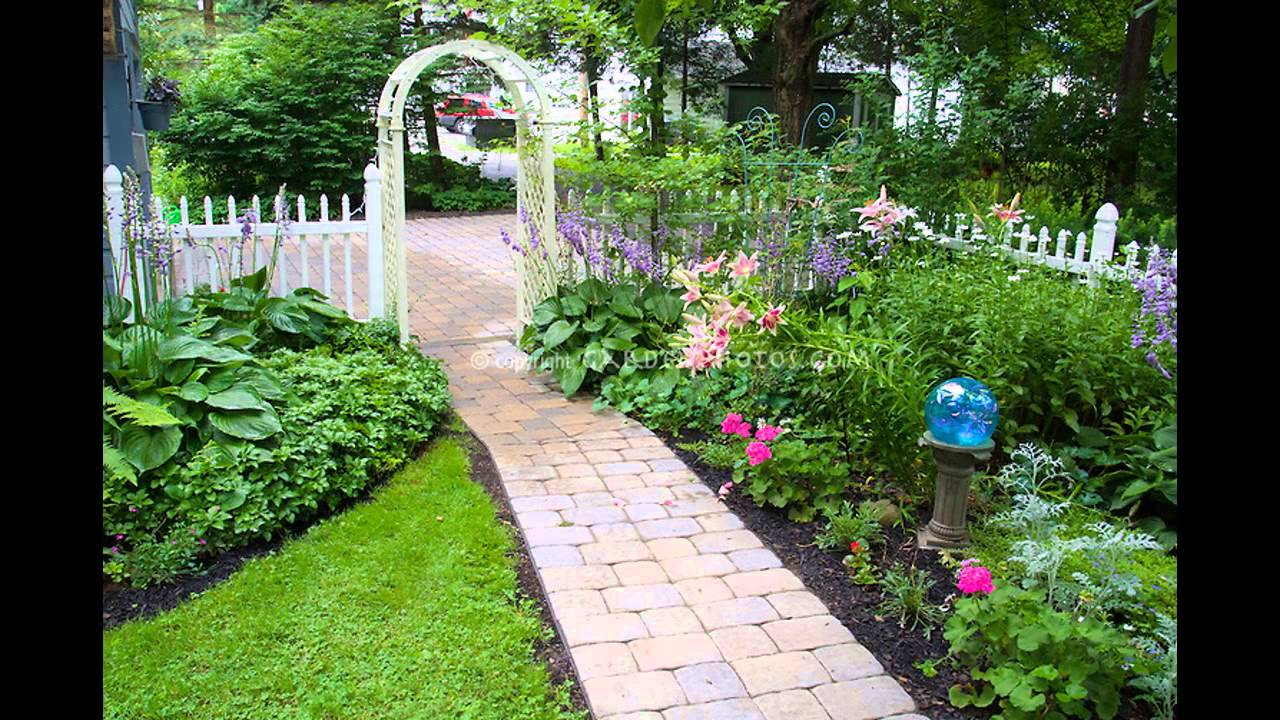 Small garden arbor ideas youtube - Small backyard landscape designs ...