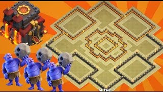 Th10 War Base 2017 Anti Bowler Anti 2 Star With Replay Anti Valkyrie Anti Lavaloon