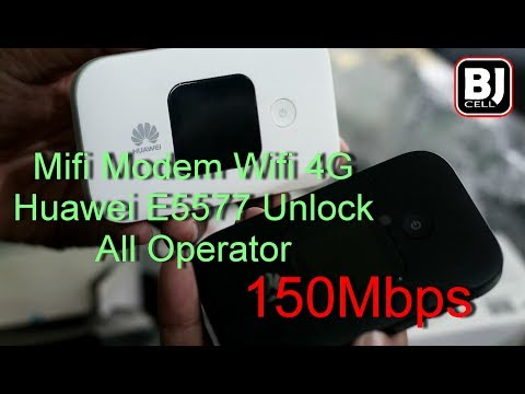 Unboxing Modem Huawei Mobile WiFi E557C 4G Unlock Speed 150Mbps