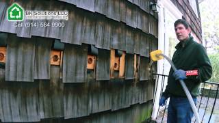 4.1 Exterior wall insulated with cellulose (dense packed)