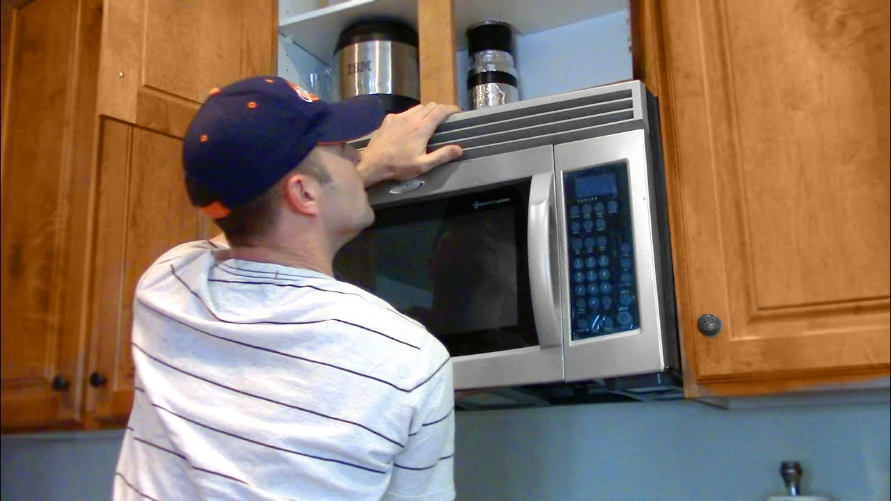 one man microwave oven installation
